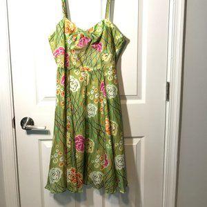 Girls From Savoy Rose Bramble Silk Dress